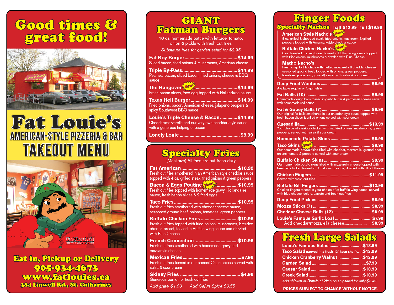 Fat Louie's St. Catharines Pizza