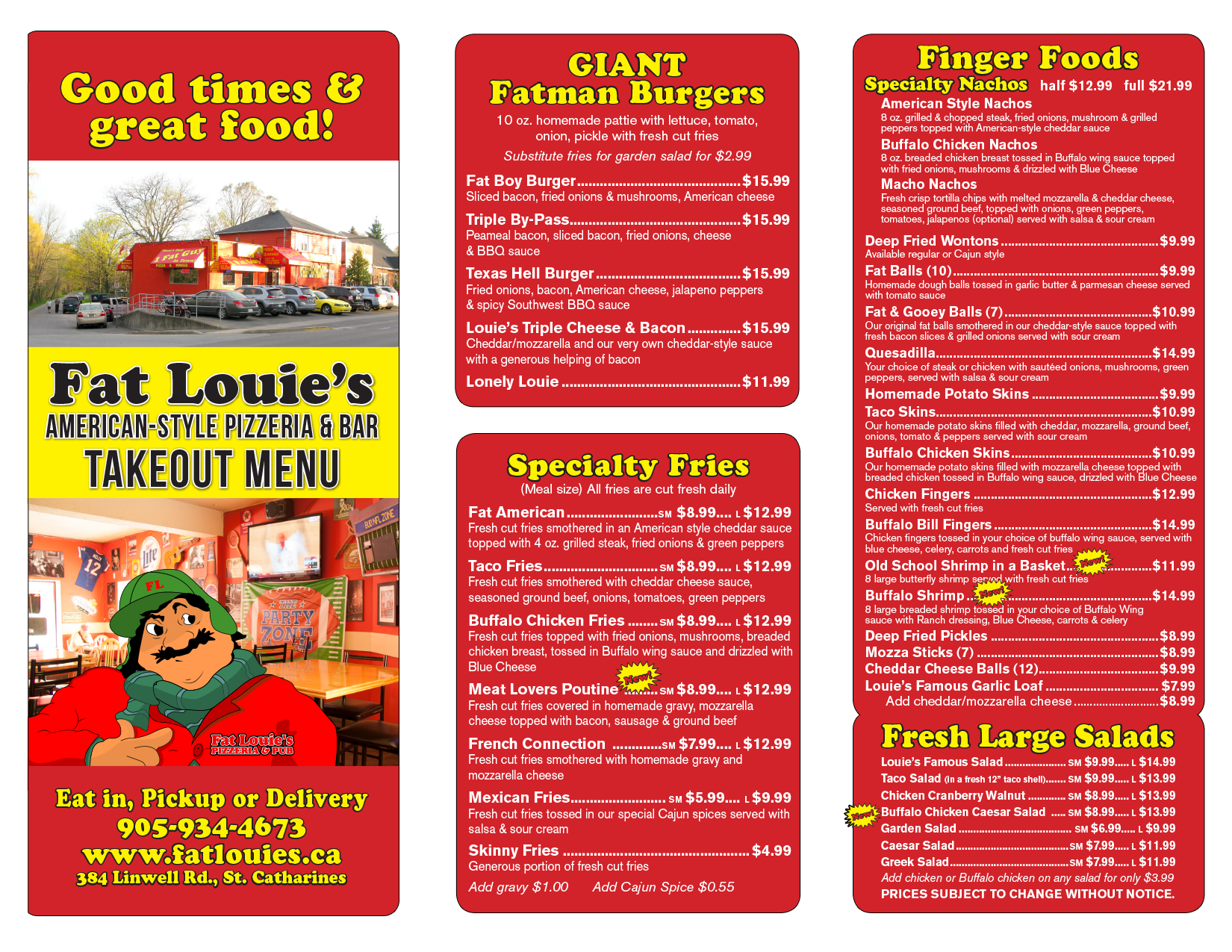 Fat Louie's Pizza and Wings in St. Catharines